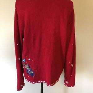 Karen Scott Sweaters - Karen Scott Large Ugly Christmas Sweater